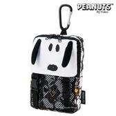 日本限定 SNOOPY 史努比 大臉版 迷你背包造型 扣環 收納袋 / 手機包 / 手機袋 / 收納包