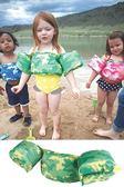 兒童泳衣浮力夾克美國學習式救生浮力衣Puddle Jumpe 豪華版綠色迷彩體重14 23
