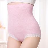 塑身褲 產後保養 收腹內褲 無縫高腰蕾絲內褲純棉襠 收腹彩紗無痕內褲提臀內褲《小師妹》yf881