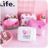 小號正韓簡約可愛學生小清新粉色化妝包少女心軟妹粉嫩便攜收納包