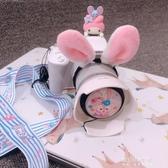 相機帶-索尼微單 佳能EOSM6 100D單反肩帶 鏡頭蓋卡通斜跨掛脖相機背帶 東川崎町