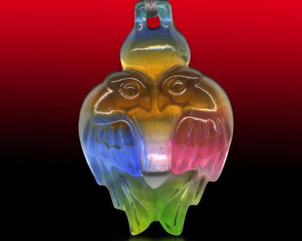 鹿港窯~居家開運水晶琉璃項鍊~相親相愛 附精美包裝  ◆免運費送到家