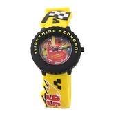 【Disney】閃電麥坤 輪框造型橡膠兒童錶-活潑黃/CR-3K2460P-002YW/原廠授權享一年保固
