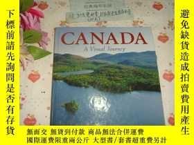 二手書博民逛書店英文原版畫冊《CANADA-A罕見Visual Journey(