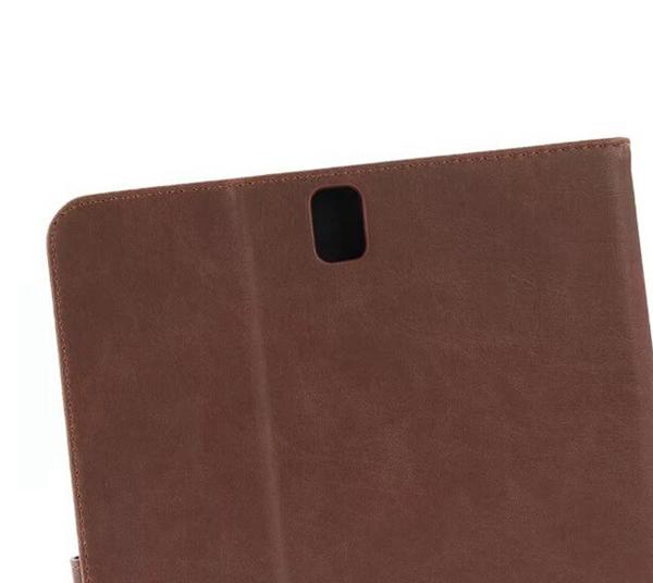 三星 Tab S3 9.7 T820/825 瘋馬紋保護套 皮紋側翻皮套 商務素面 支架 插卡 錢夾 磁扣 平板套 保護殼