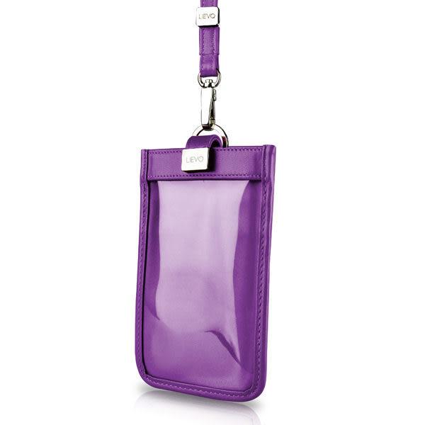 【LIEVO】 TOUCH - 頸掛式真皮手機套_深紫紅(iPhone 8 / Galaxy S6 / 5.1 吋螢幕以下手機皆適用)