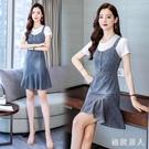 牛仔背帶裙女春夏季2020新款韓版顯瘦吊帶裙氣質洋裝 LF4746【極致男人】