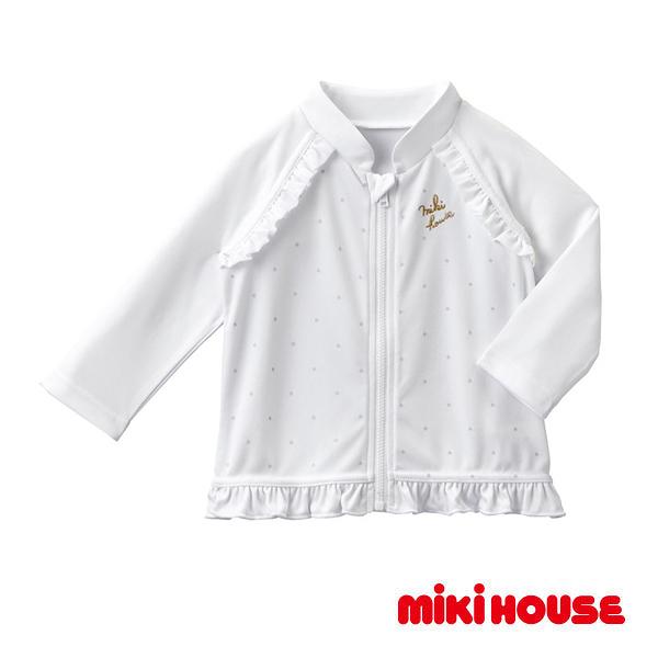 MIKI HOUSE 抗UV女童戲水防曬外套(白)