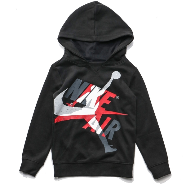 JORDAN 黑 灰白紅LOGO 基本款 帽T 長褲 套裝 童裝 (布魯克林) JDBEE6987023
