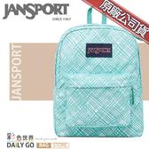 JANSPORT後背包包大容量JS-43501-0JJ湖水綠格格
