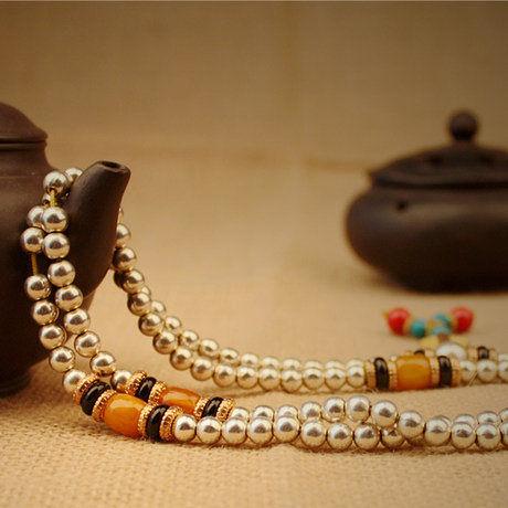開光白銅念珠佛珠手鏈