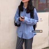 特賣POLO杉PPHOME韓風CHIC冷淡風少女經典百搭慵懶男友風凈版寬鬆長袖襯衫