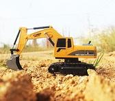 挖掘機玩具 超大號兒童遙控挖掘機玩具車無線充電動男孩合金挖土機【快速出貨八折下殺】