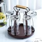 創意水杯架置物架家用客廳收納杯子架瀝水玻璃杯架子瀝水杯架掛架 NMS初色家居館杯架