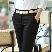 西裝褲 黑色褲子女職業工作工裝褲春秋2020新款寬鬆直筒休閒長西裝褲上班