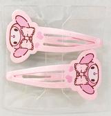 【震撼  】My Melody_ 美樂蒂Sanrio 美樂蒂髮夾組粉大頭愛心2 入28444