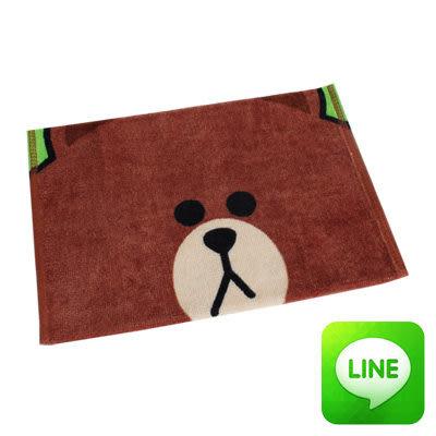 【銅板價】Line明星純棉童巾(熊大大臉)