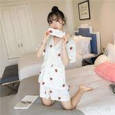 浴袍和服純棉兩件套裝清新甜美可愛學生寬鬆 WD2165【衣好月圓】
