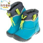 《布布童鞋》Moonstar日本藍綠色防水止滑兒童雨鞋(15~19公分) [ I8T101B ]