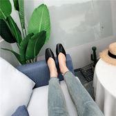 2018秋季新款韓版方頭淺v口包頭平跟奶奶半拖鞋女時尚百搭懶人拖  檸檬衣舍