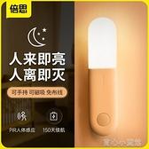 感應燈 LED人體感應燈家用過道樓道智慧感應夜燈走廊玄關光控小夜燈 育心館
