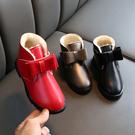 2019冬季新款童鞋加絨加厚保暖女童靴子蝴蝶結時裝公主雪地棉靴