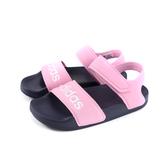adidas ADILETTE SANDAL K 涼鞋 魔鬼氈 粉紅色 童鞋 G26876 no702