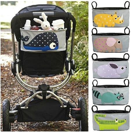 嬰兒推車掛傘車儲物袋兒童推車掛鉤配件掛袋收納袋通用推車配件 童趣屋 免運