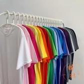 純色上衣短袖T恤時尚百搭夏季寬松短袖【橘社小鎮】