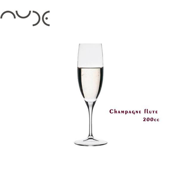 NUDE 笛型香檳杯 200cc champagne flute 香檳杯 高腳杯 水晶玻璃杯 酒杯 玻璃杯