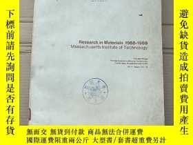 二手書博民逛書店research罕見in materials 1968-1969 massachusetts institute