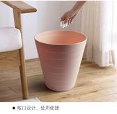 【優選】客廳家用無蓋小號紙簍廚房大號垃圾桶