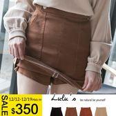 LULUS特價-Y雙釦造型同色內裡褲裙S-L-4色  現+預【04070232】