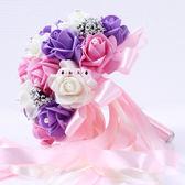結婚用品新娘手捧花 婚禮捧花婚慶影樓道具婚紗照仿真玫瑰花束   居家物語