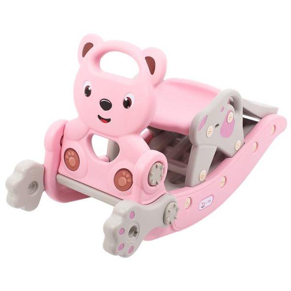 兒童塑料滑梯搖搖馬二合一生禮物車一周歲寶寶嬰兒兩用玩具木馬【小梨雜貨鋪】