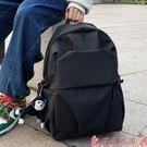尼龍包防水尼龍布韓版雙肩包大容量大學生書包男士褶皺休閒旅行電腦背包 芊墨左岸