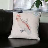 時尚美式鄉村 花鳥棉麻沙發抱枕 辦公室靠墊套 BLW006