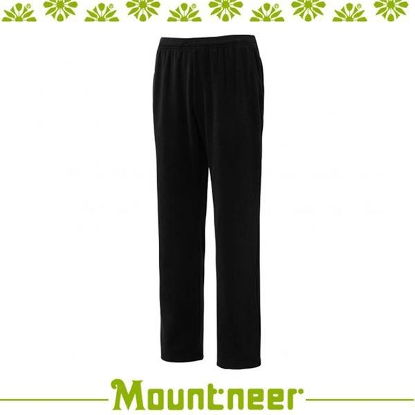 【Mountneer 山林 中性刷毛保暖長褲《黑》】12F51/長褲/休閒褲/旅遊