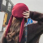 帽子女兔耳朵甜美可愛李白帽蓓蕾帽百搭韓版貝雷帽優家小鋪