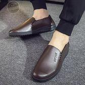 皮鞋春夏季廚師鞋子防滑防水防油男鞋廚房酒店透氣黑色皮鞋肯德基工作 1件免運