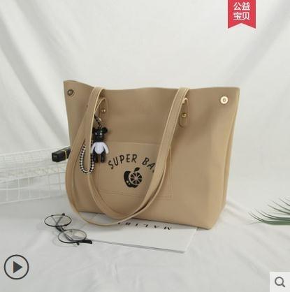 大學生上課包側背包大容量包包女斜背托特包新款潮百搭手提包