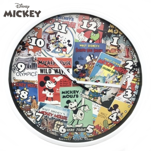 日本限定 迪士尼 米奇家族 漫畫風 掛鐘 壁掛時鐘