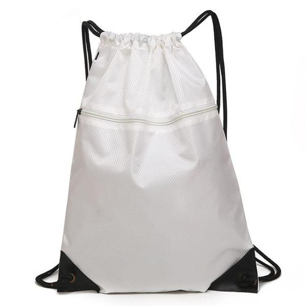 背包 防水束口袋抽繩雙肩包 男女戶外大容量旅游旅行包跑步運動收納包 芭蕾朵朵
