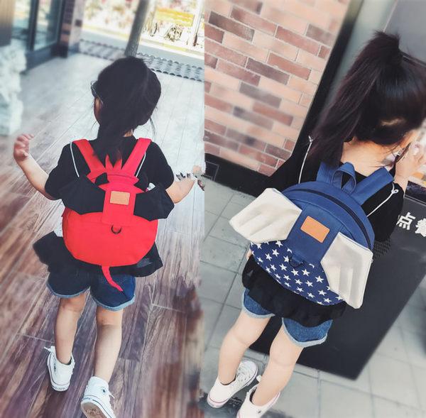 兒童書包幼兒園1-3-5歲小女孩男後背包包童翅膀寶寶防走失背包潮 童趣潮品