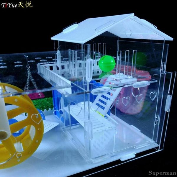 倉鼠籠- 亞克力透明倉鼠豪華別墅單層雙層豪華套餐金絲熊 jy【快速出貨八折搶購】
