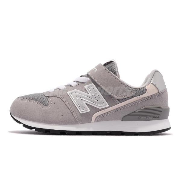 New balance 童鞋 996 NB 灰 中童鞋 大童 女鞋 小朋友 魔鬼氈 紐巴倫【ACS】 YV996GR3-W