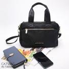 Catsbag 經典時尚三層防水斜背包方包托特包 W1860
