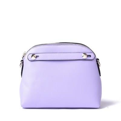 側背包-歐美風格純色貝殼皮革女肩背包-8色73nh22【巴黎精品】