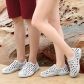 2019新款拖鞋女夏涼拖鞋鳥巢拖鞋女洞洞鞋女沙灘鞋去度假情侶外穿