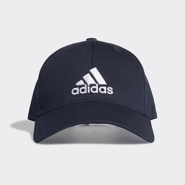 Adidas Bball Cap Cot [FQ5270] 男女 老帽 鴨舌帽 棒球帽 六分割 經典款 防曬 深藍